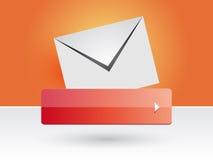 Botón del correo Fotografía de archivo