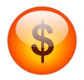 Botón del dólar Foto de archivo libre de regalías