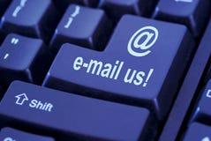 Botón del email Fotos de archivo