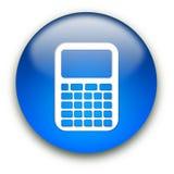 Botón del icono de la calculadora Fotografía de archivo
