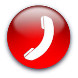 Botón del icono del teléfono Foto de archivo