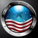 Botón del indicador americano Fotografía de archivo libre de regalías