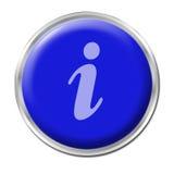 Botón del Info Fotografía de archivo libre de regalías