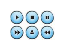 Botón del jugador Imagen de archivo libre de regalías