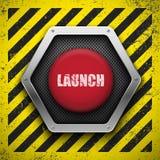 Botón del lanzamiento. Imagen de archivo