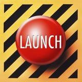 Botón del lanzamiento Fotografía de archivo libre de regalías