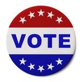 Botón del voto Foto de archivo