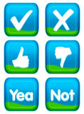 Botón del Web - conjunto del voto Fotografía de archivo
