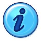 Botón del Web de la información Foto de archivo