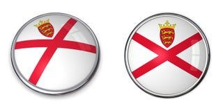 Botón Jersey de la bandera Fotografía de archivo