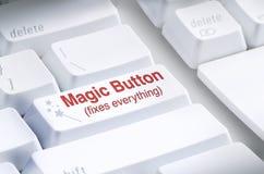 Botón mágico en el teclado de ordenador Fotos de archivo libres de regalías