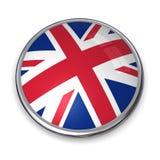 Botón Reino Unido de la bandera Foto de archivo libre de regalías