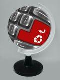 Botón rojo con el símbolo para reciclar Imágenes de archivo libres de regalías