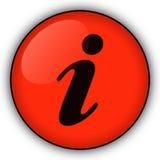 Botón rojo de la información Imagenes de archivo