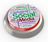 botón social de los media 3d Foto de archivo