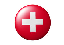 Botón suizo Fotografía de archivo libre de regalías