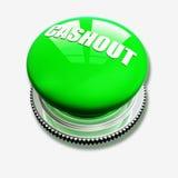 Botón verde en el fondo blanco Foto de archivo libre de regalías