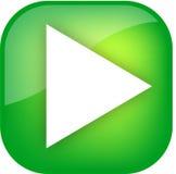 Botón verde grande del juego Imagenes de archivo