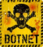 Botnet infection warning. Sign,grungy style, vector illustration Royalty Free Stock Photo