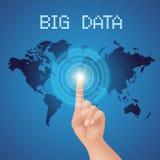 Botão grande dos dados Foto de Stock