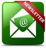 Botão quadrado verde do boletim de notícias Imagens de Stock Royalty Free