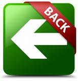 Botão quadrado verde traseiro Fotografia de Stock Royalty Free