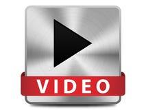 Botão video Fotos de Stock Royalty Free
