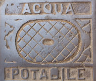 Botola dell'acqua potabile Fotografie Stock Libere da Diritti