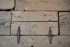Botola di legno consumata fotografia stock
