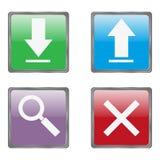 Botones útiles de Internet fijados Foto de archivo libre de regalías