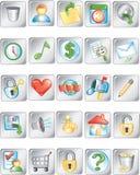Botones 2 del cuadrado Imágenes de archivo libres de regalías