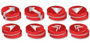 botones 3D stock de ilustración