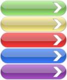 botones 3d con las flechas Fotografía de archivo libre de regalías