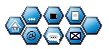 Botones Foto de archivo