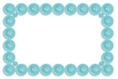 Botones aislados en el collage blanco del marco Foto de archivo libre de regalías