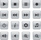 Botones alejados brillantes blancos Imagen de archivo libre de regalías