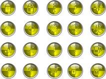 Botones amarillos Fotografía de archivo