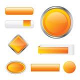 Botones anaranjados brillantes modernos ilustración del vector