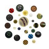 Botones antiguos Imagen de archivo libre de regalías