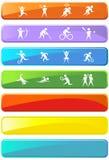 Botones atléticos del rectángulo Imagen de archivo