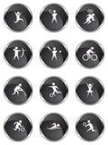 Botones atléticos - satén negro libre illustration