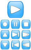 Botones audios brillantes Foto de archivo