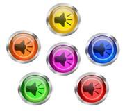 Botones audios del icono de la música del Presidente Imagen de archivo libre de regalías