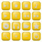 botones audios del vector Foto de archivo