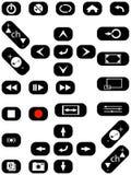 Botones audios y video Imagen de archivo