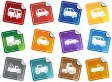 Botones automotores de la etiqueta engomada Imagenes de archivo