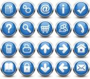 Botones azules Foto de archivo libre de regalías