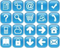 Botones azules Imágenes de archivo libres de regalías