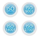 Botones azules de la ISO Fotos de archivo libres de regalías