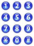 Botones azules del teléfono stock de ilustración